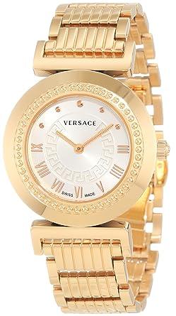 Versace P5Q80D001 S080 – Montre bracelet pour femme, bracelet en acier  inoxydable couleur or 614edff0b63