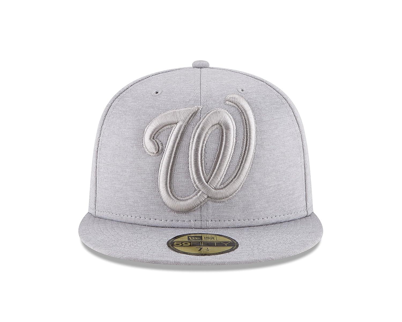 b73c95740b8af Amazon.com   New Era Washington Nationals MEGA TONE Fitted 59Fifty MLB Hat  - Gray   Sports   Outdoors
