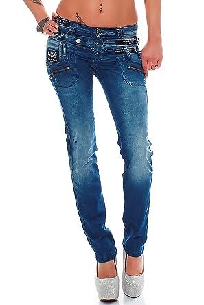 61ffc4cf252 Cipo   Baxx Sexy Damen Jeans Hose Hüftjeans Skinny Regular Fit Stretch Röhre  Design W25