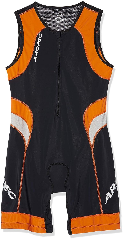 Aropec Muta da triathlon uomo, colore: nero e arancione