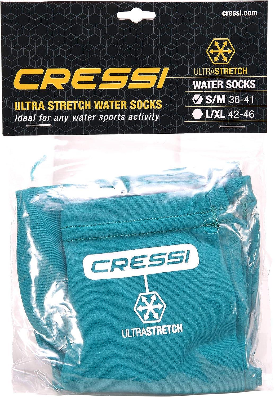 Cressi Elastic Water Socks Calzari per Snorkeling//Nuoto in Tessuto Ultra Stretch