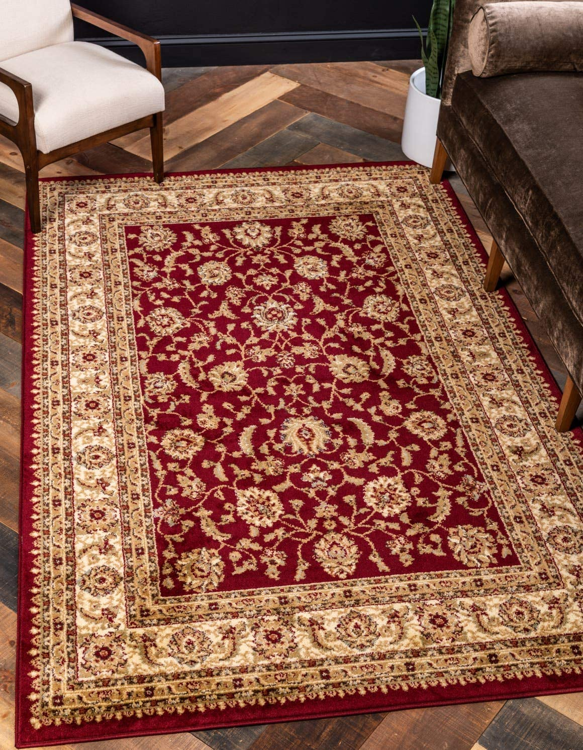 Unique Loom Voyage Collection Traditional Oriental Classic Red Area Rug 3 3 x 5 3