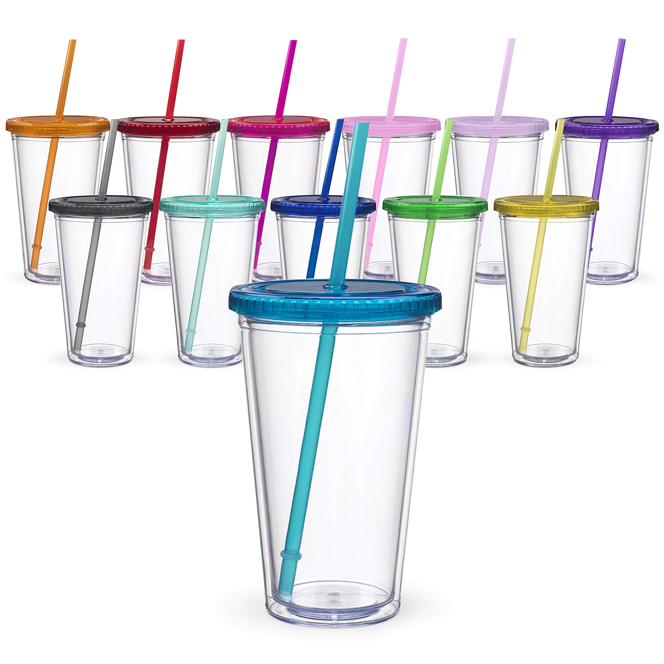 Maars Classic Insulated Tumblers 16 oz. | Double Wall Acrylic | 12 pack by Maars® Drinkware