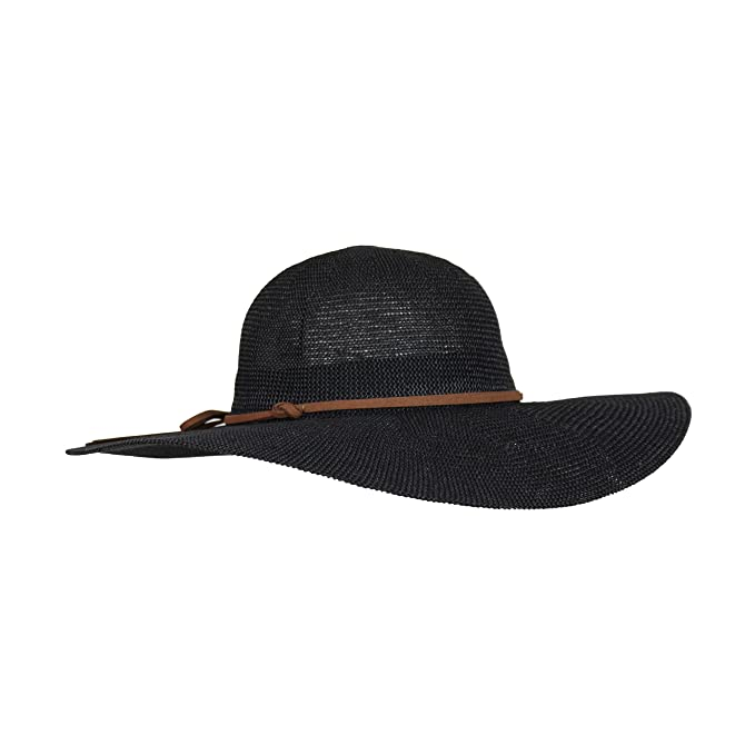 8b86850e5 Lightweight Panama Hat with Tie Hatband, Floppy Brim Straw Crochet Sun Hat