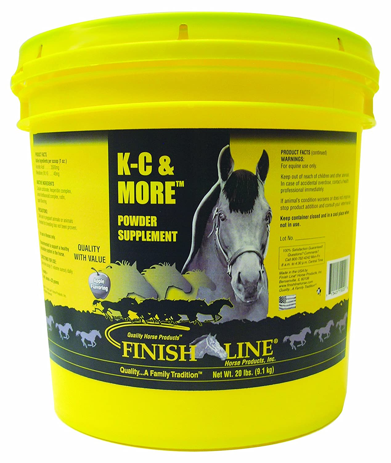 Amazon.com : Finish Line Horse Products K- C & More (4-Pounds) : Horse  Nutritional Supplements And Remedies : Sports & Outdoors