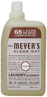 Mrs. Meyer's Clean Day Liquid Laundry Detergent, Lavender, 34 Fluid Ounce
