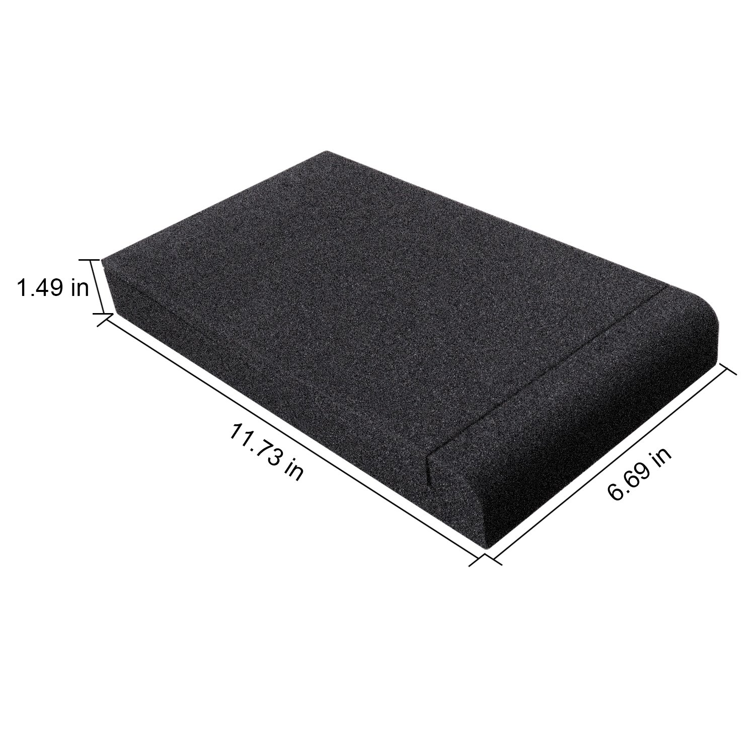 Studio Monitor Isolation Pads, Suitable for 5'' - 8'' inch for Speakers, High-Density Acoustic Foam for Significant Sound Improvement, Prevent Vibrations and Fits most Stands - 2 Pads by Shayson (Image #4)