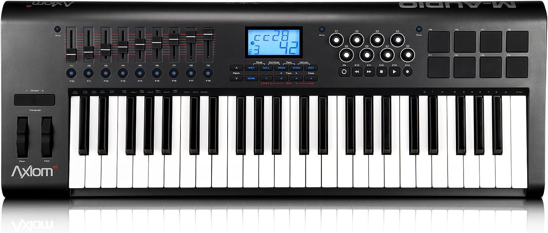 M-Audio Axiom 49 (2nd gen) 101578 - Teclado electrónico (plástico, 49 teclas, conector tipo USB), color negro