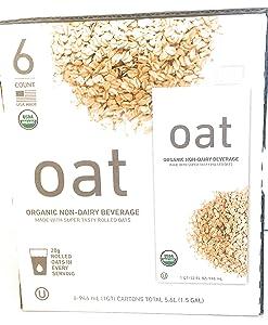 Organic Oat Unsweetened Beverage (6/32 Fl Oz)Net Wt (192 Fl Oz),