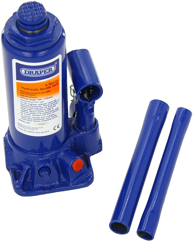 Draper 39054 2-Tonne Hydraulic Bottle Jack Draper Tools Hand Tools Other Tools