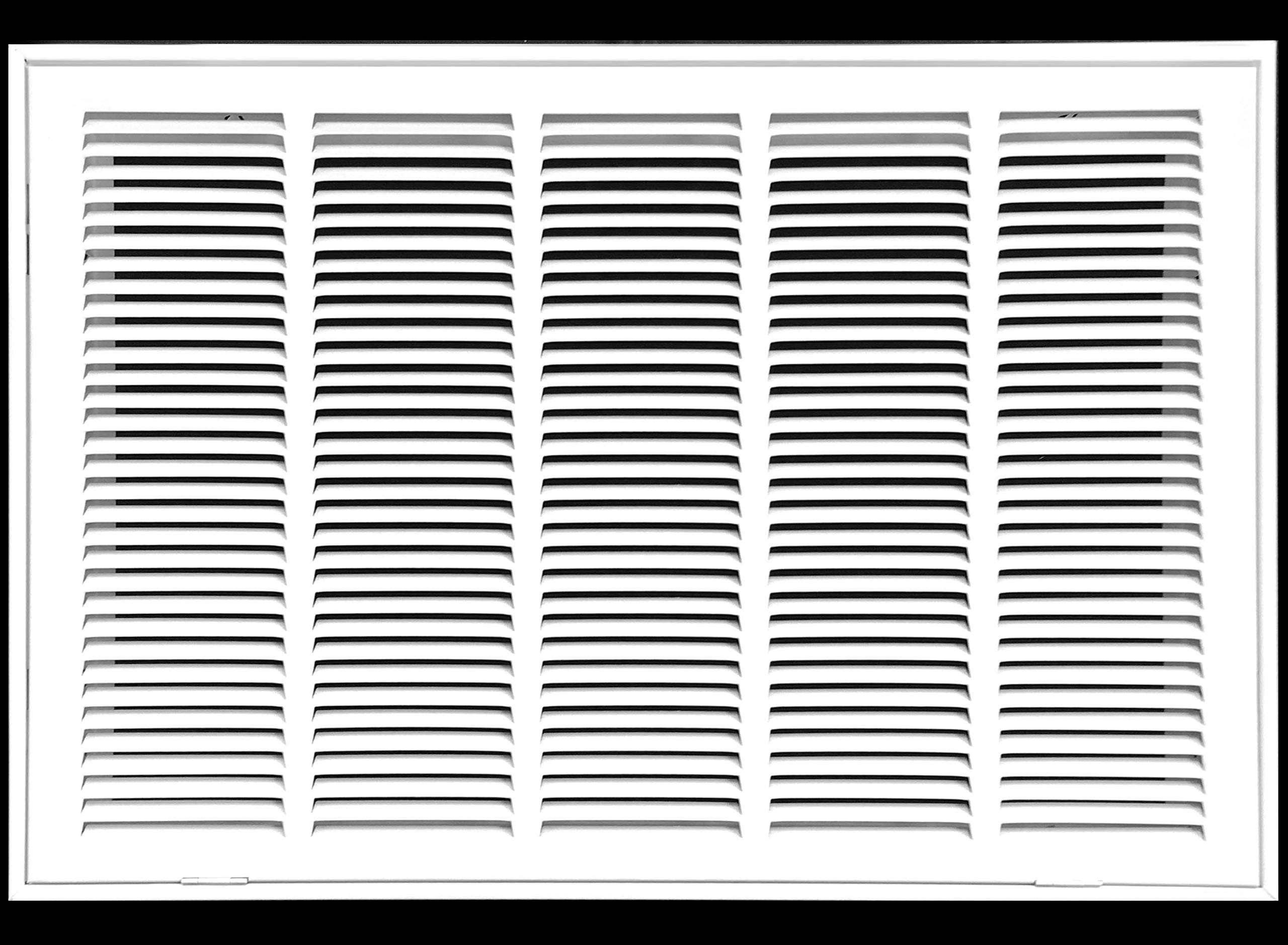 25'' X 14 Steel Return Air Filter Grille for 1'' Filter - Fixed Hinged - Ceiling Recommended - HVAC Duct Cover - Flat Stamped Face - White [Outer Dimensions: 27.5 X 15.75]