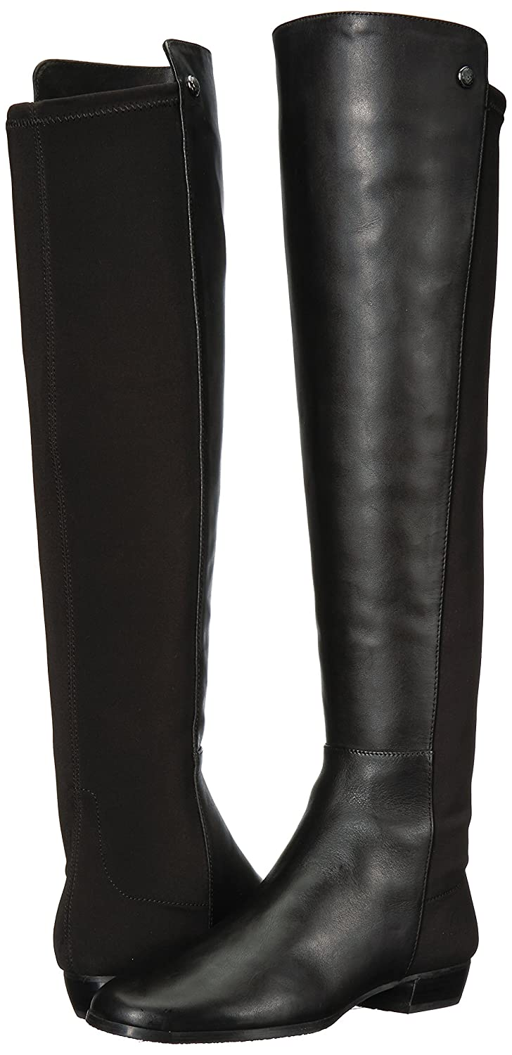 Vince Camuto Womens Karita Leather Stretch Over-The-Knee Boots