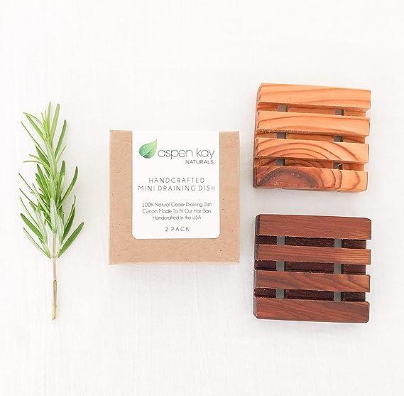 Amazon.com: 2 jaboneras de madera 100% cedro natural, sin ...