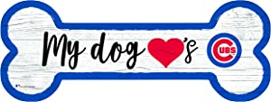 Fan Creations MLB Chicago Cubs Unisex Chicago Cubs Dog Bone Sign, Team Color, 6 x 12