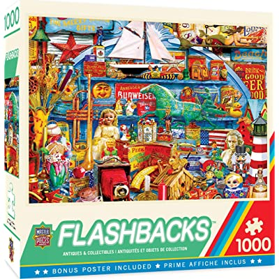 MasterPieces Flashbacks - Antiques & Collectibles 1000-Piece Jigsaw Puzzle: Toys & Games