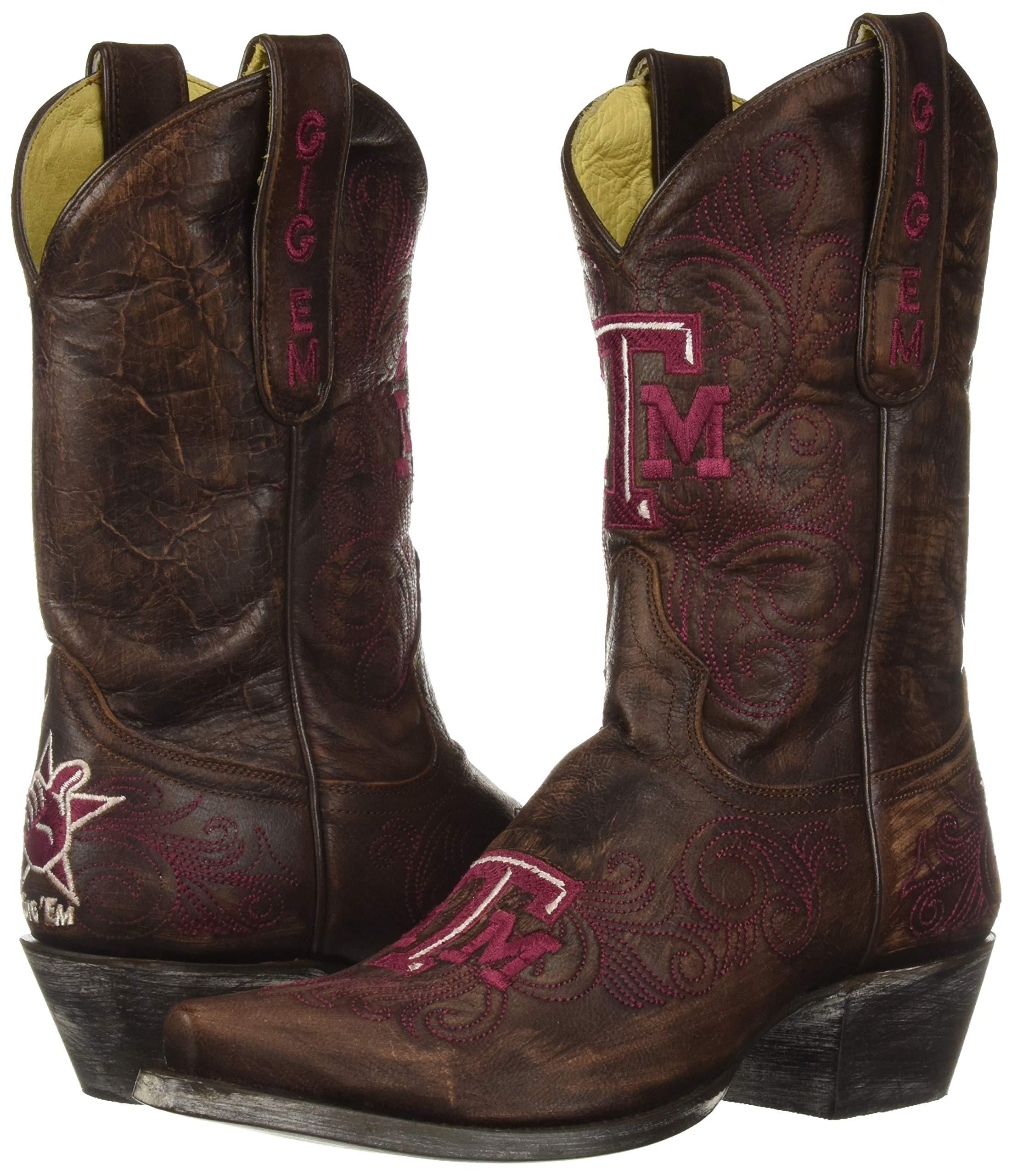 NCAA-Texas-A-amp-M-Aggies-Women-039-s-10-Inch-Gameday-Boot-Choose-SZ-color miniature 7