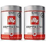 Illy Ground Ground Espresso Medium Roast, 8.8oz (Pack of 2)