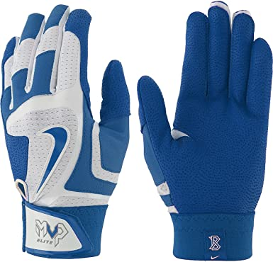 Nike MVP ELITE Baseball Batting Gloves Blue GB0378-144 Adult Size XL XLarge New