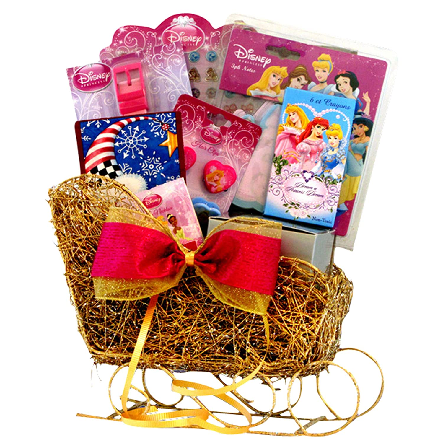 Amazon.com : Disney Princess Sleigh Valentine Gift Baskets - for ...