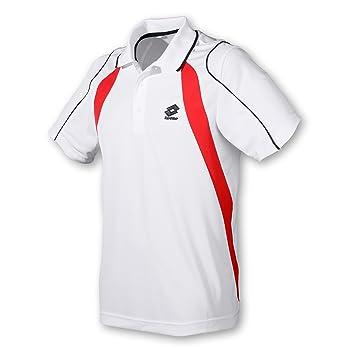 Lotto Seed PI - Polo para hombre, color rojo y blanco blanco ...