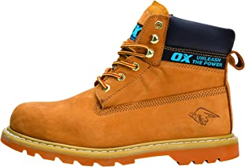 Moviente Expresión Preservativo  OX Safety Boots - Industrial Grade Honey Nubuck Safety Boots with Steel Toe  Cap - Tan - Size 6: Amazon.co.uk: DIY & Tools