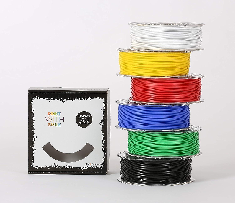 PrintWith Smile - Filamento 3D PLA, 1,75 mm, 6 x 1 kg: Amazon.es ...