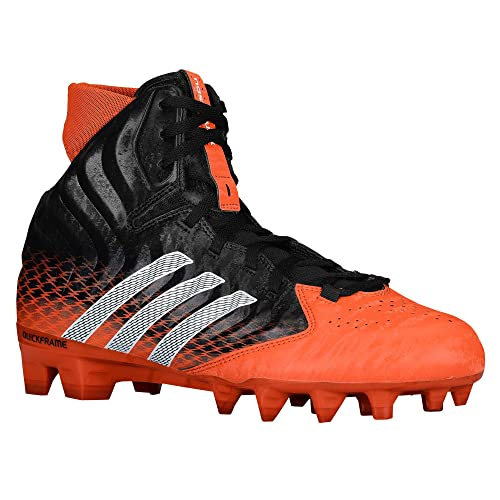 adidas Men's NastyQuick Mid Football Cleats (Forest/Platinum/Running White,  17 M