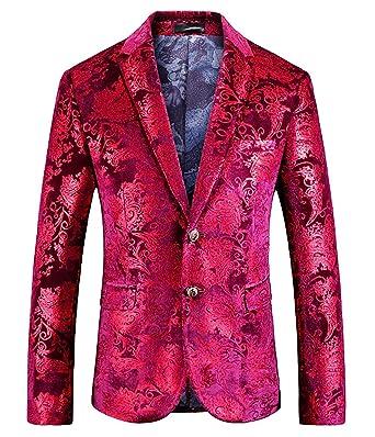 HX fashion Blazer Clásico De Los Hombres Chaqueta De Traje ...