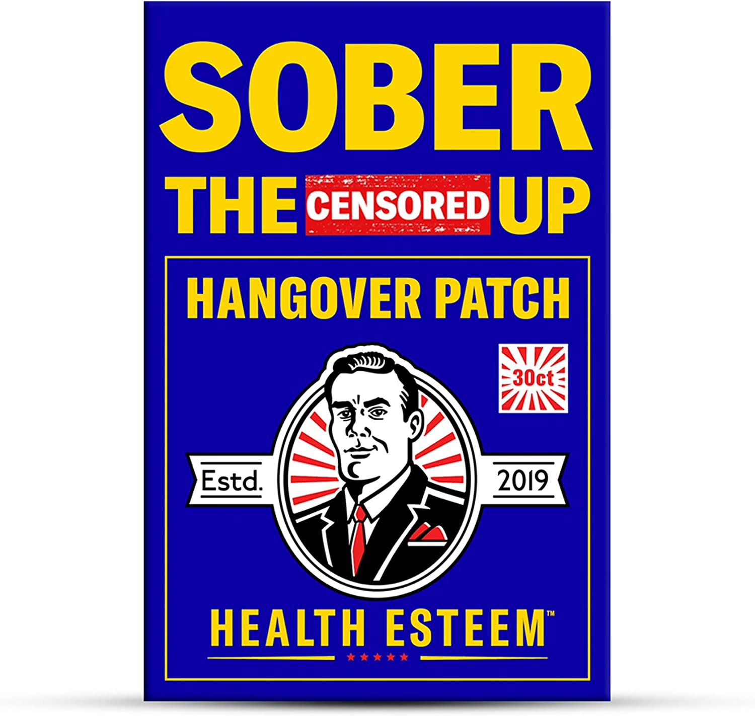 Hangover Patch for Hangover Cure & Hangover Prevention (30 Hangover Patches) | Hangover Kit Supplies Alternative to Hangover Pills & Hangover Drinks | Sober The (Censored) Up by Health Esteem
