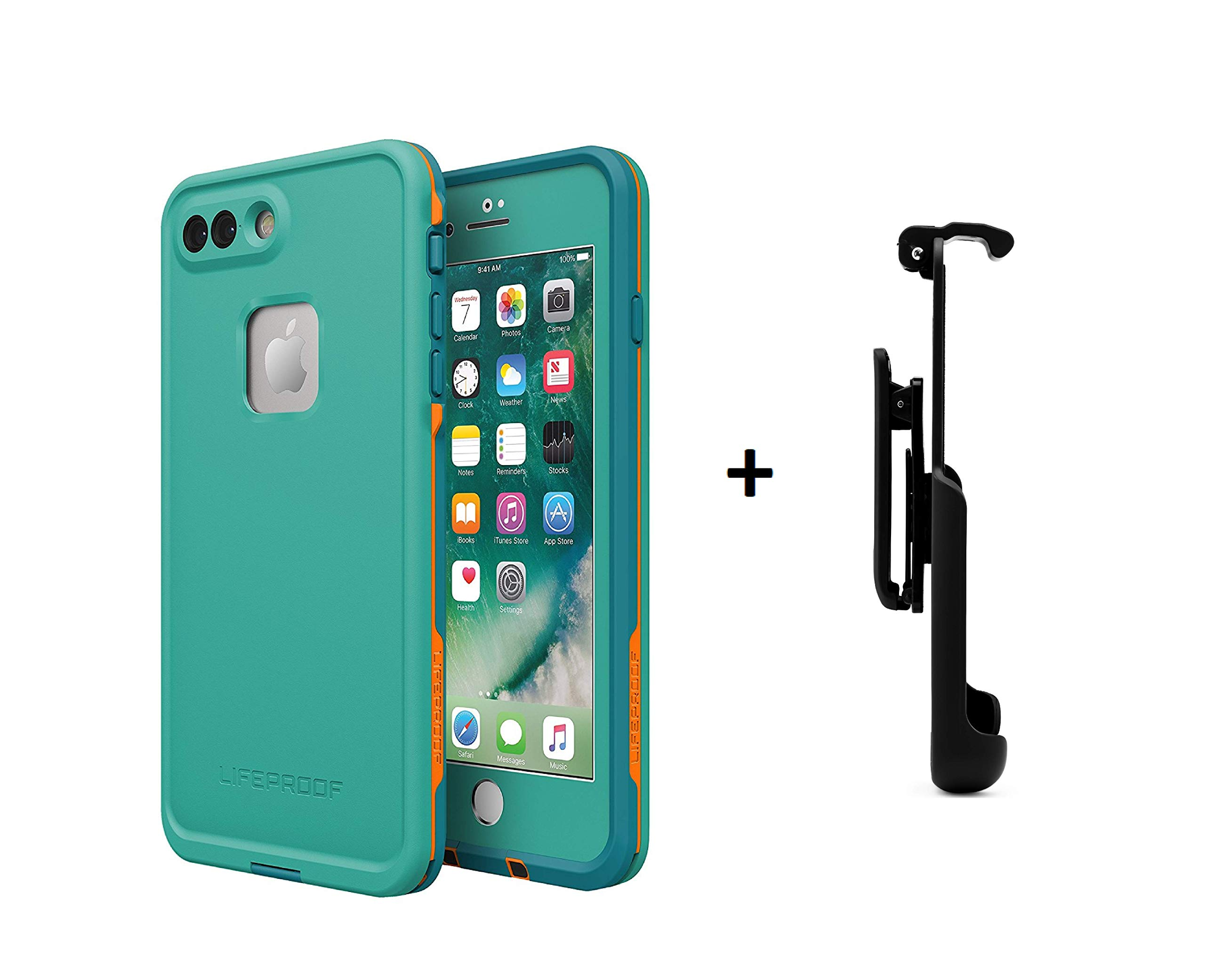 Lifeproof FRĒ Series Waterproof Case for iPhone 8 Plus & 7 Plus (ONLY) - Retail Packaging (Sunset Bay + Belt Clip)