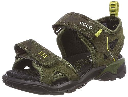 09635754a67c23 ECCO Unisex Kids' Biom Raft Open Toe Sandals, Green Black/Grape Leaf 51077