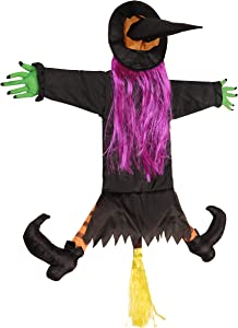 Movpct Betty Bash Crashing Witch Into Tree Halloween Decoration