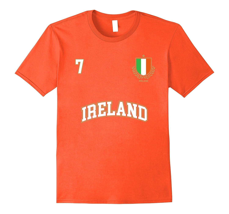 6f6b6523b Ireland Shirt Number 7 + BACK Soccer Team Sports Irish Flag-FL ...