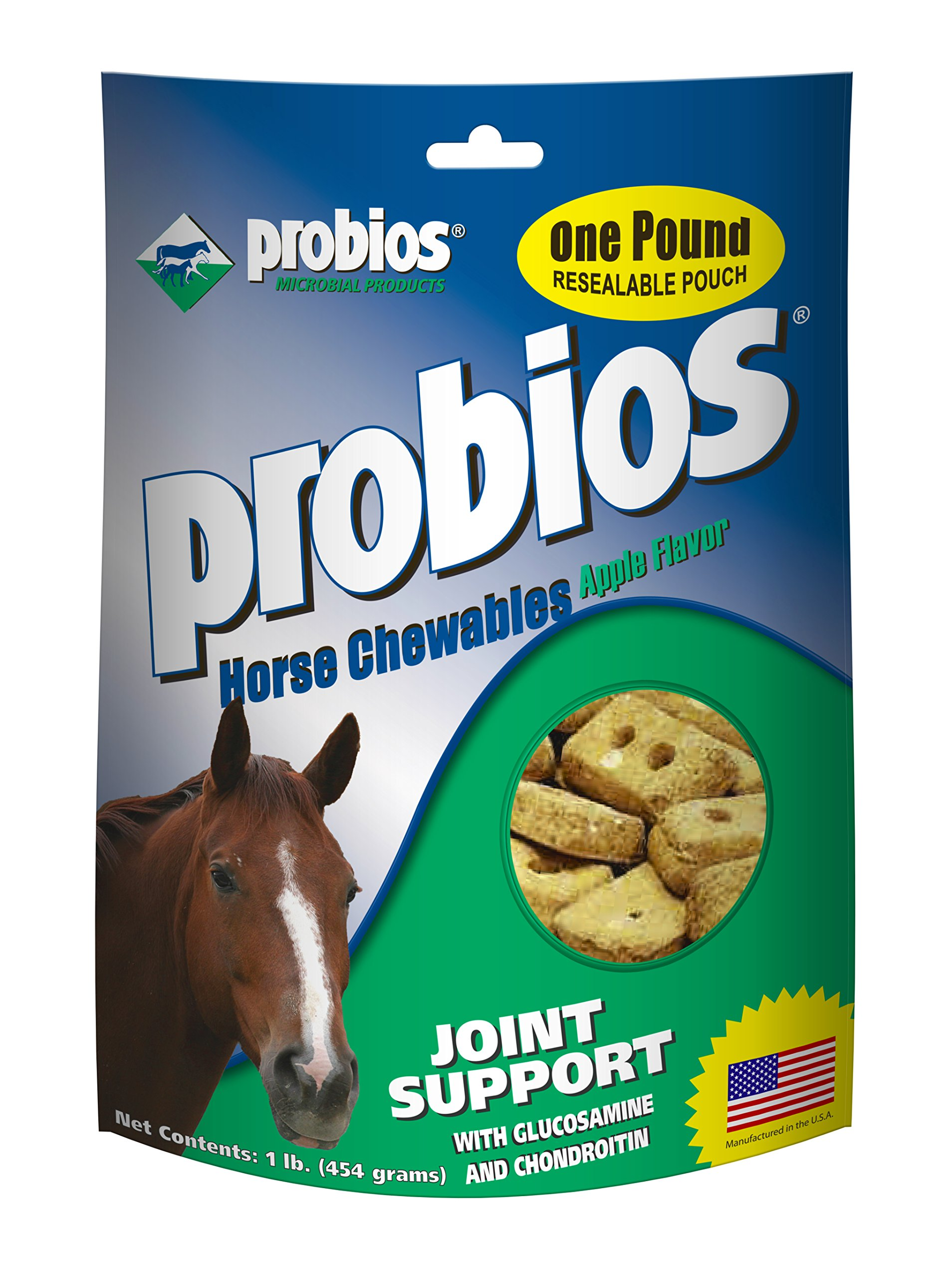 Probios Horse Treats for Hip and Joint with Glucosamine, 1-Pound