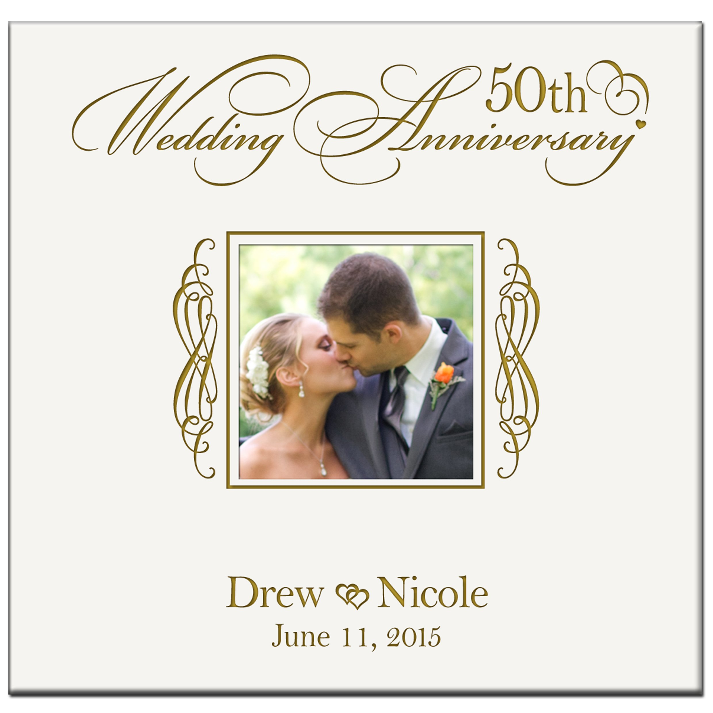 LifeSong Milestones Personalized Mr & Mrs 50th Wedding Photo Album Holds 200 4x6 Photos Wedding Gift Ideas Made By
