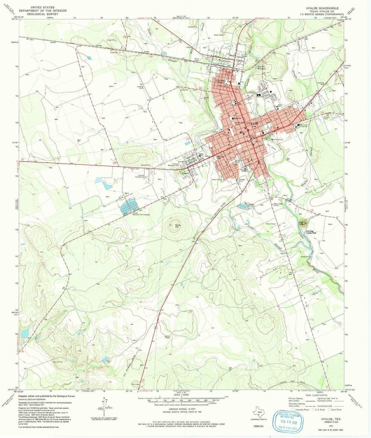 Amazon Com Yellowmaps Uvalde Tx Topo Map 1 24000 Scale 7 5 X