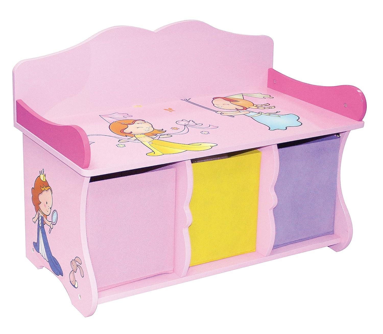 Liberty House Toys-Panchina con 3 cassetti, legno MZ4174