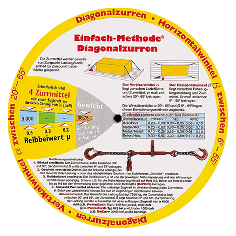Drehscheibe zur Ladungssicherung Truckers Disc LKW G/üterverkehr Fahreranweisung