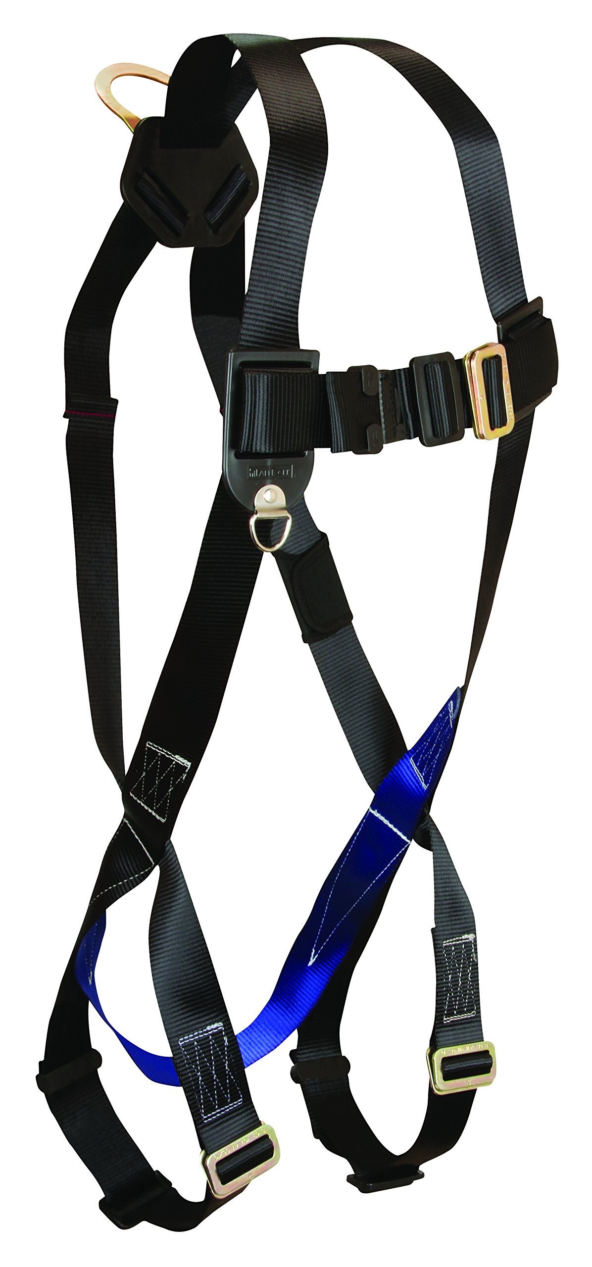 FallTech 7007 FT Basic Full Body Harness with 1 D-Ring and Mating Buckle Leg Straps, Universal Fit