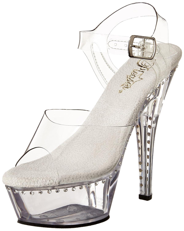 Pleaser Women's Kiss-208LS/C/M Platform Sandal B00ADIQT5E 9 B(M) US Clear/Clear
