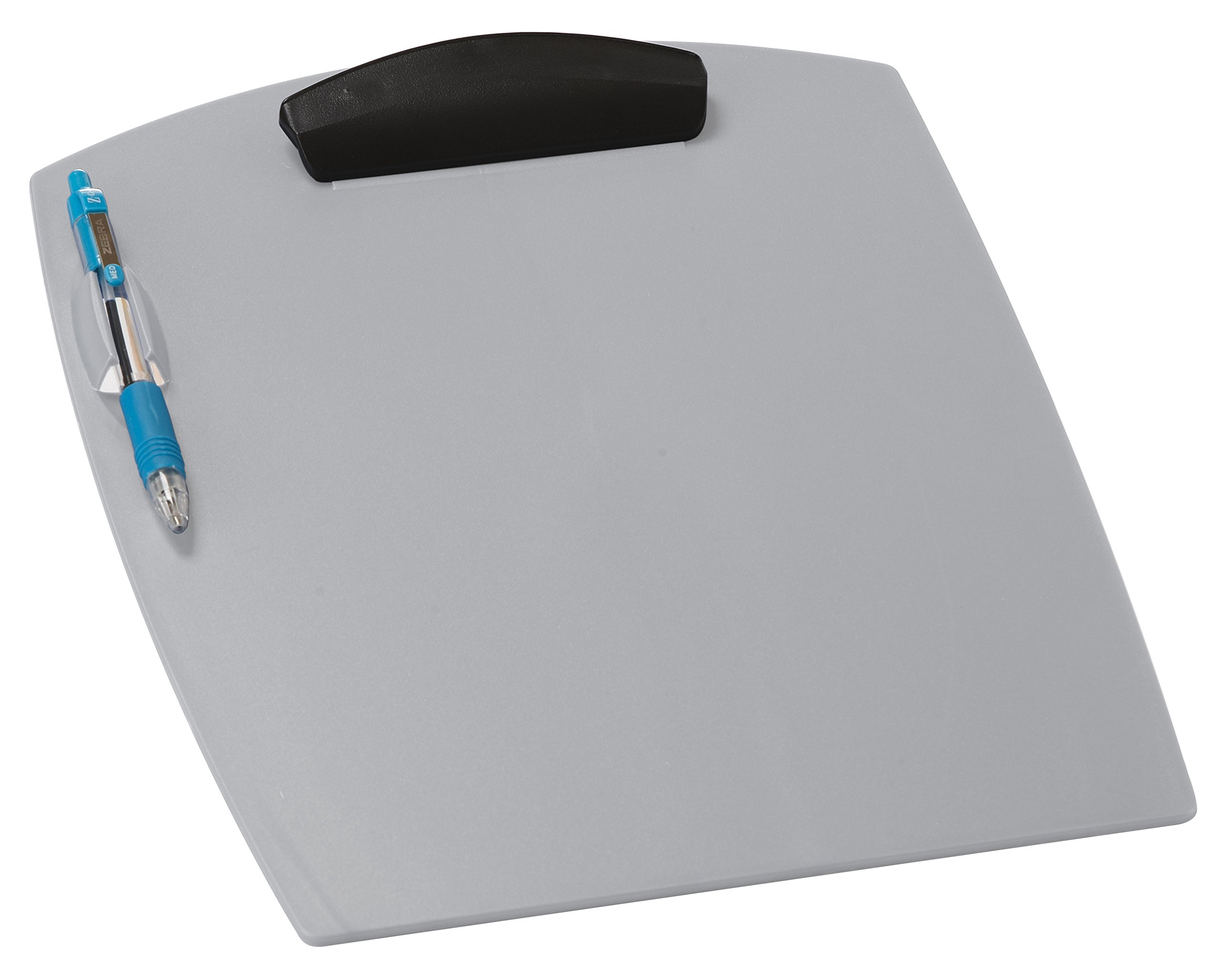 Storex Deluxe Clipboard, 10.25 x .88 x 12.74 Inches, Pearl Silver, Case of 12, STX41103U12C by Storex (Image #1)