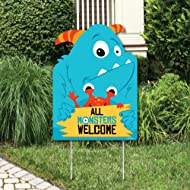 Big Dot of Happiness Monster Bash - Party Decorations - Little Monster Birthday Party or Baby Shower Welcome Yard Sign