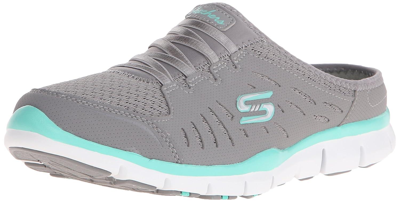 Skechers Sport Women's No Limits Slip-On Mule Sneaker B014EY2JX8 5 B(M) US|Grey Mint