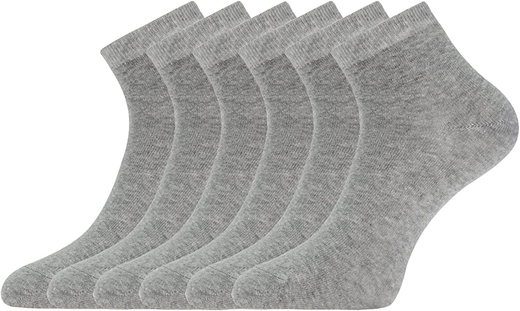 oodji Collection Mujer Calcetines Tobilleros (Pack de 6), Gris, ES ...