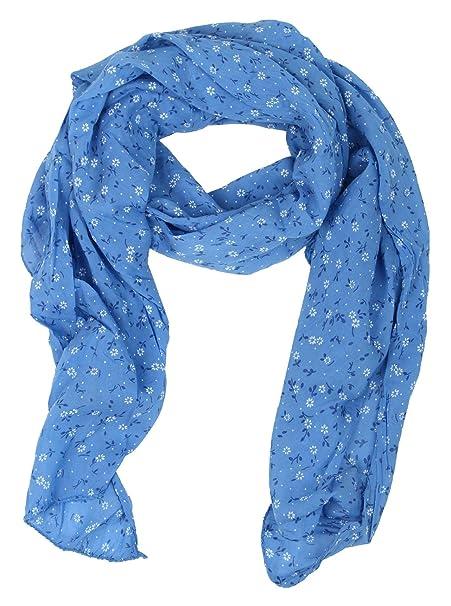 Kurt Kölln Pañuelo para mujer / Bufanda flores (azul)