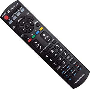 Vinabty New Replacement Remote fit for PANASONIC Plasma LCD TV TH-50PZ700U TH-50PZ77U TH-50PE8U TH-50PX80U TH-50PX80UA TH-50PZ80U, TH-50PZ80UA TH-58PZ700U TH58PZ700 PT-50LCZ7 PT-56LCZ7 (N2QAYB000100)