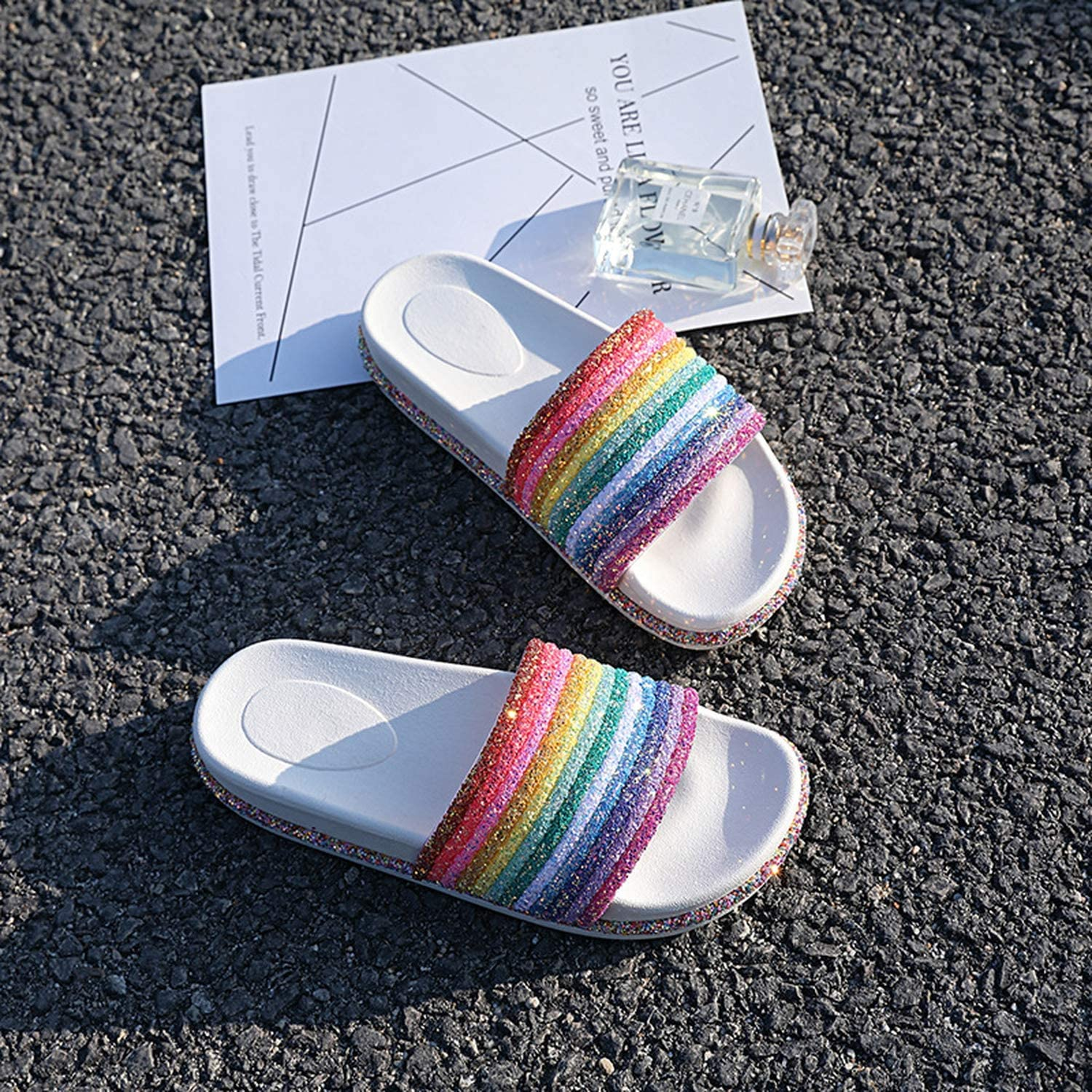 Slippers Pink Slides Cute Beauty Rope