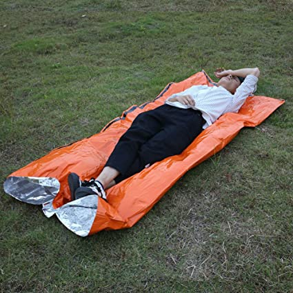 Beautyrain PC 1 Sacos de dormir de supervivencia Hi-Vis al aire libre de emergencia
