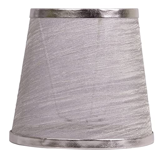 Splink sheer silver lamp shade e27 fabric handmade lampshades for splink sheer silver lamp shade e27 fabric handmade lampshades for candle droplight wall bulb aloadofball Image collections