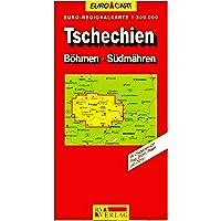Euro regionalkarte, échelle 1: 300 000 : Tschechien, Bôhmen, Sûdmâhren